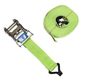 1 x 25mm x 5 metre High Visibility RATCHET LASHING STRAPS MBL 800kgs Claw Hook